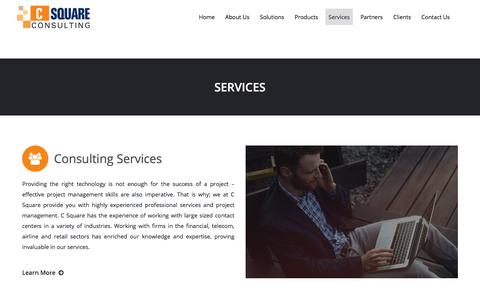 Screenshot of Services Page csquare.co - Services – C Square Consulting - captured July 6, 2017