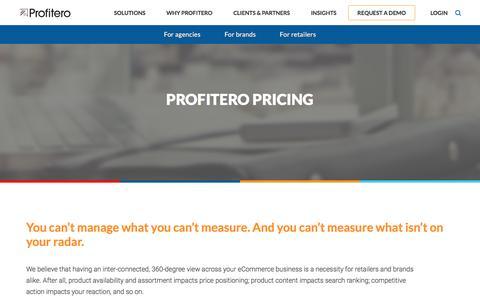 Screenshot of Pricing Page profitero.com - Profitero pricing - captured May 9, 2017