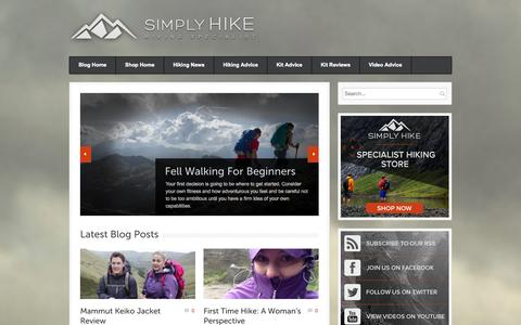 Screenshot of Blog simplyhike.co.uk - Simply Hike Blog | Hiking Specialists - captured Sept. 23, 2014