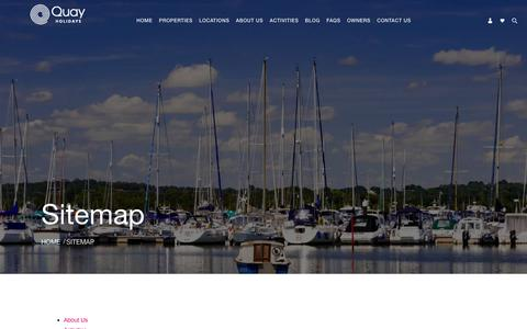 Screenshot of Site Map Page quayholidays.co.uk - Sitemap | Poole's Premium Letting Specialists, Quay Holidays - captured July 23, 2018