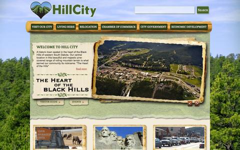Screenshot of Home Page hillcitysd.com - Hill City Area Chamber of Commerce | Hill City, South Dakota - captured Oct. 2, 2014