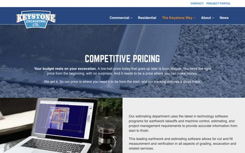Screenshot of Pricing Page ourlifeisdirt.com - Competitive Pricing - Keystone - captured Oct. 17, 2017