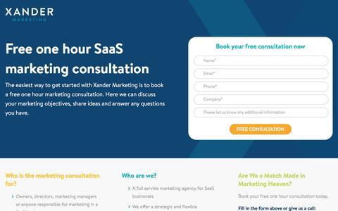 Free SaaS Marketing Consultation | Xander Marketing