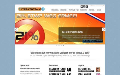 Screenshot of Home Page flyer-centrale.nl - Flyer-Centrale.nl | Centraal punt voor al uw ontwerpen! - captured Aug. 4, 2016