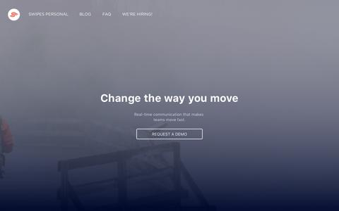 Screenshot of Home Page swipesapp.com - - Take the leap. Swipe! - captured Nov. 2, 2015