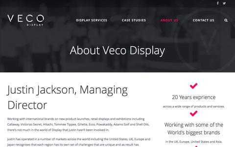 Screenshot of About Page vecodisplay.co.uk - About Veco Display - Veco Display - captured Feb. 17, 2016