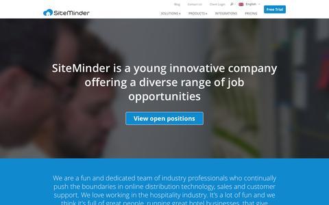 Screenshot of Jobs Page siteminder.com - Careers - SiteMinder - captured Nov. 23, 2015