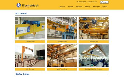 Screenshot of Products Page emech.co.in - Products | ElectroMech - captured July 24, 2017