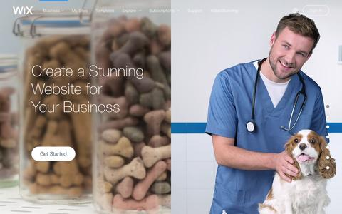 Screenshot of Services Page wix.com - Business Website Builder | Create Small business website | Wix.com - captured Feb. 16, 2016