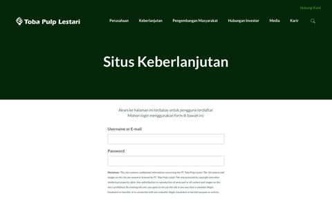 Screenshot of Maps & Directions Page tobapulp.com - Situs Keberlanjutan | PT Toba Pulp Lestari Tbk. - captured Nov. 2, 2017