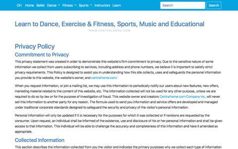 Screenshot of Privacy Page centralhome.com - Privacy | Centralhome.com - captured Sept. 22, 2018