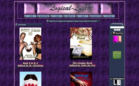 Screenshot of Home Page logical-lust.com - .: Logical-Lust Publications :.  Steamy romance and sizzling erotica! - captured Dec. 12, 2015
