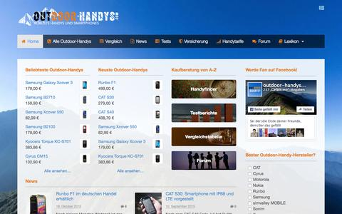 Screenshot of Home Page outdoor-handys.com - Outdoor-Handy & Outdoor-Smartphone: 62 robuste Handys im �berblick - captured Nov. 19, 2015