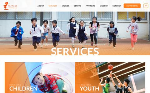 Screenshot of Services Page changingyounglives.org.hk - Services | Changing Young Lives Foundation - captured July 24, 2017
