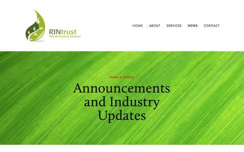 Screenshot of Press Page rintrust.com - News & Events — RINtrust - captured Oct. 22, 2017