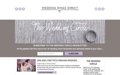 Screenshot of Blog weddingrings-direct.com - The Wedding Circle - UK Wedding Blog - Wedding Rings Direct - captured Sept. 24, 2014