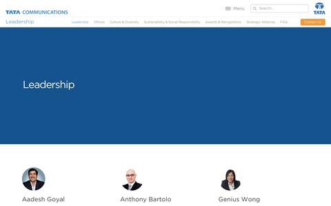 Screenshot of Team Page tatacommunications.com - (2) New Messages! - captured July 9, 2019