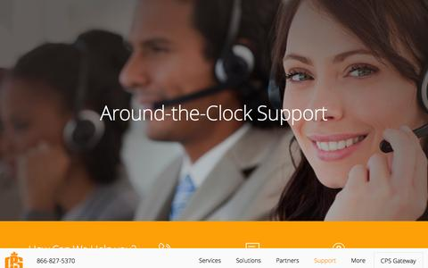 Screenshot of Support Page cpsmerchants.ca - Support - captured Oct. 18, 2016