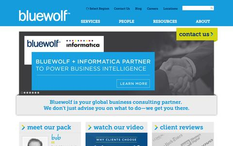 Screenshot of Home Page Services Page bluewolf.com - Bluewolf | Global Business Consulting - captured Sept. 17, 2014