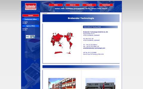 Screenshot of Jobs Page brabender-technologie.com - Brabender Technologie: Employment and Agency Offers - captured Oct. 5, 2014