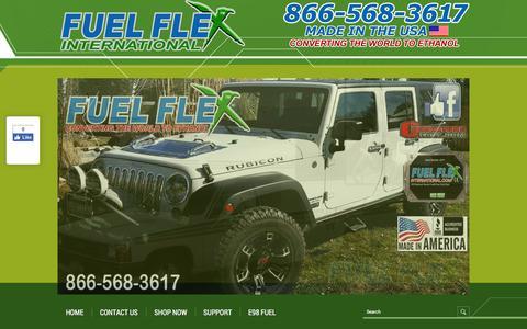 Screenshot of Support Page fuelflexinternational.com - E85 conversion kits - e85 kits - ALCOHOL FUEL CONVERSION KITS - FLEX FUEL CONVERSIONS - Fuel Flex International, Full Flex International - Full Flex Gold and ECO Flex Platinum USA Distributor flex fuel - Pulstar pulse Spark Plugs - FLEX COMBUSTIBLE - captured Aug. 4, 2016