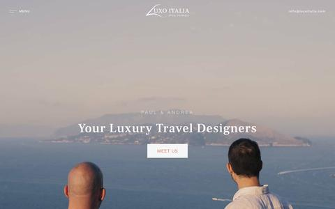 Screenshot of Home Page luxoitalia.com - Luxury Travel Italy Tailor-Made By Luxo Italia - captured Nov. 5, 2018