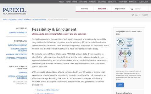Screenshot of parexel.com - Feasibility and Enrollment | PAREXEL - captured Dec. 7, 2016