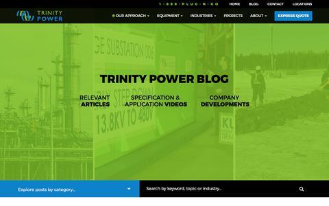 Screenshot of Blog trinitypower.com - Blog - Trinity Power - captured Nov. 10, 2017