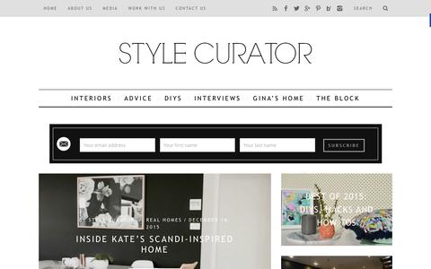Screenshot of Home Page stylecurator.com.au - STYLE CURATOR - latest home decorating, design, DIYs, home tours and interviews with people in the industry - captured Dec. 31, 2015