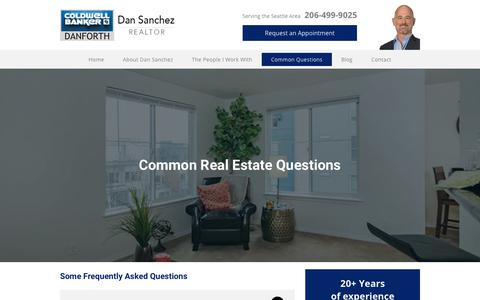 Screenshot of FAQ Page dansanchezrealtor.com - Real Estate FAQs | Dan Sanchez Realtor - captured Nov. 6, 2018