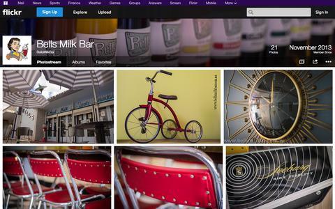 Screenshot of Flickr Page flickr.com - Flickr: BellsMilkBar's Photostream - captured Oct. 23, 2014