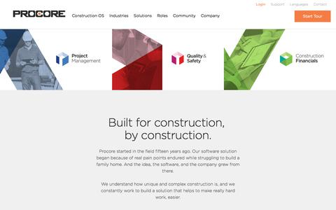 Procore Construction Project Management Software