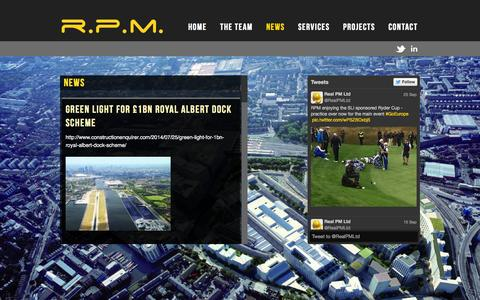 Screenshot of Press Page realpm.co.uk - News | RPM - captured Oct. 7, 2014