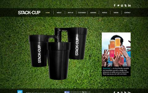 Screenshot of Home Page stack-cup.com - Stack-Cup - captured Sept. 30, 2014