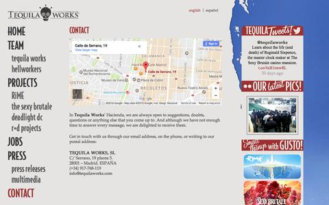 Screenshot of Contact Page tequilaworks.com - Contact | Tequila Works - captured Dec. 15, 2016