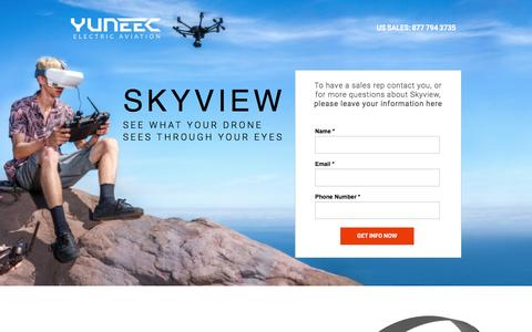 Screenshot of Landing Page yuneec.com - Skyview - Yuneec - captured Aug. 31, 2016