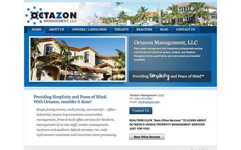 Screenshot of Home Page octazon.com - Home   Octazon Management, LLC - captured Oct. 6, 2014