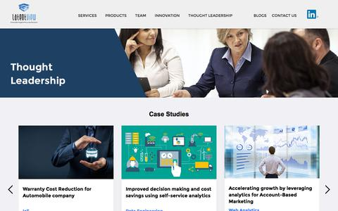 Screenshot of Case Studies Page latentview.com - Advanced Analytics Whitepapers, Case Studies & Infographics - captured Sept. 3, 2019