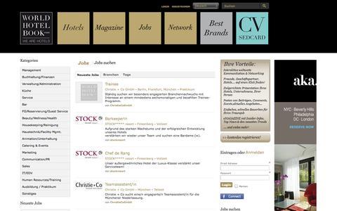 Screenshot of Jobs Page worldhotelbook.com - WORLDHOTELBOOK.com - Jobs suchen oder posten | Search, post or announce jobs - captured Oct. 26, 2014