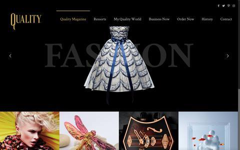 Screenshot of Home Page quality-magazine.ch - Quality Magazine - captured Oct. 21, 2018