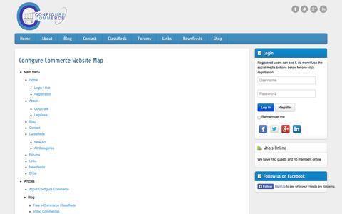Screenshot of Site Map Page config.com - e-Commerce Sitemap - captured Nov. 2, 2014