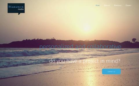 Screenshot of Home Page blue-wave-media.com - Blue Wave Media - captured Oct. 6, 2018