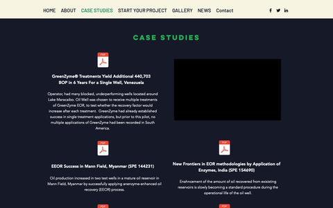 Screenshot of Case Studies Page btprocessing.com - GreenZyme Case Studies Reports Literature Resarch Academic - captured Oct. 5, 2018
