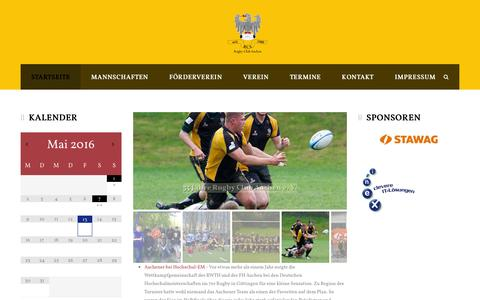 Screenshot of Home Page rugby-club-aachen.info - Rugby Club Aachen - captured May 13, 2016