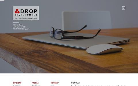 Screenshot of Team Page dropdevelopment.com - Our Team Archives - Drop Development Inc - captured Feb. 9, 2016