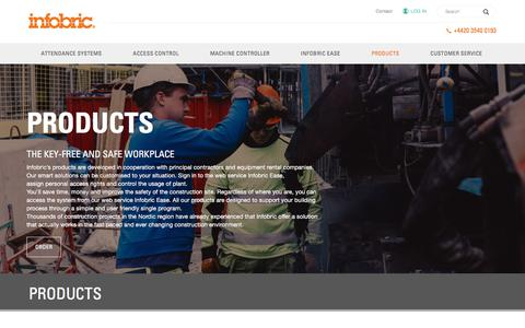 Screenshot of Products Page infobric.co.uk - Products - Infobric UK - captured Jan. 13, 2018