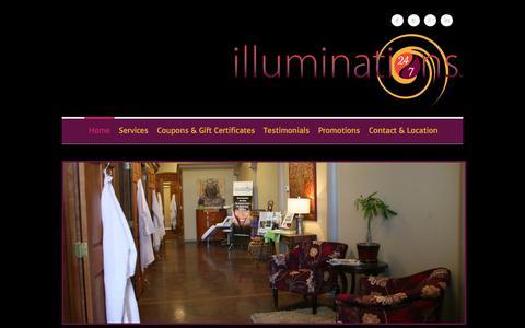 Screenshot of Home Page illuminations24-7.com - Tanning Salons Commerce City Co Reunion Co - Illuminations 24-7 - captured Feb. 6, 2015