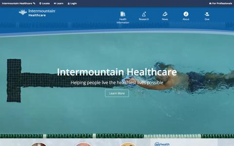 Home | Intermountain Healthcare