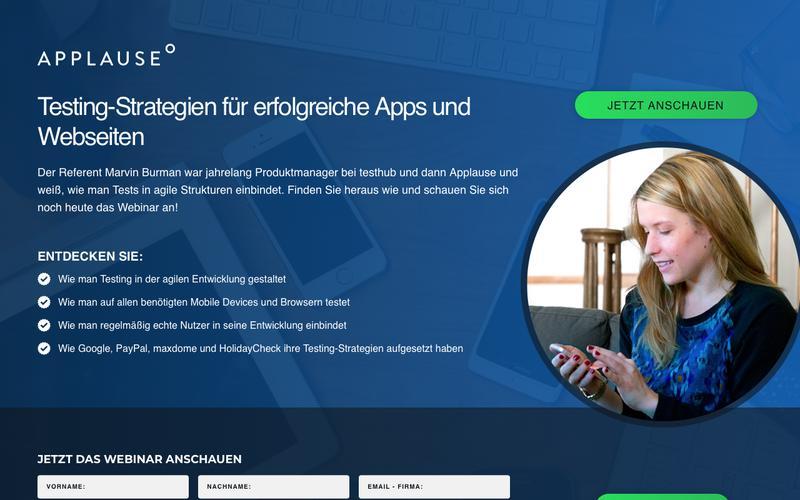 Webinar: Testing-Strategien für erfolgreiche Apps und Webseiten