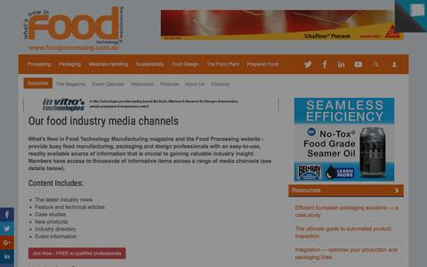Screenshot of About Page foodprocessing.com.au - About us :: FoodProcessing - captured Jan. 8, 2016